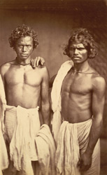 Portrait of two unidentified males, Eastern Bengal.